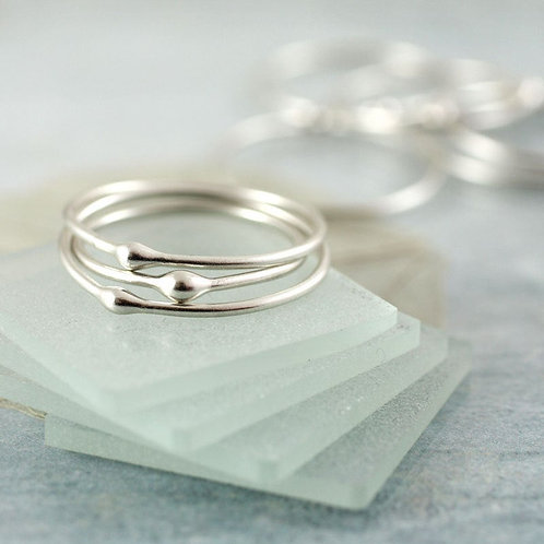 Stacking Ring Set - Silver Stacking Rings