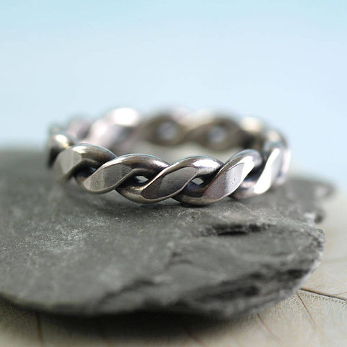 Celtic Silver Ring Twisted 2mm Wire