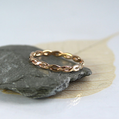Twisted Gold Fill Ring 1 mm Wire