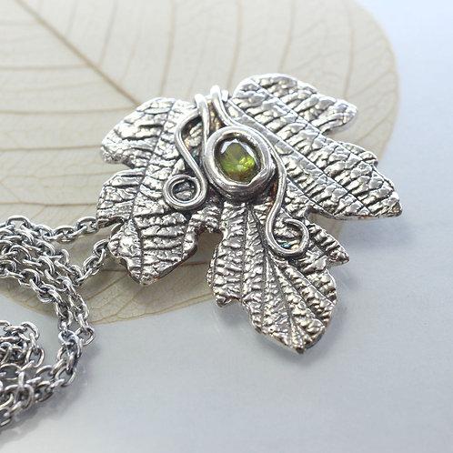 Elven Silver Leaf Necklace