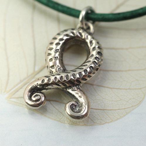 Silver Troll Cross Pendant - Viking Jewellery