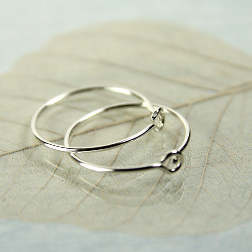 Silver Sleeper Hoops  16mm Sterling Silver