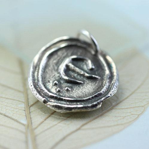 Rustic Silver Monogram Pendant