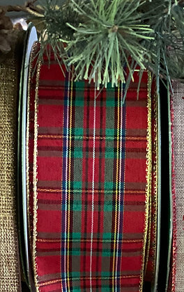 Classic Plaid Wired Ribbon