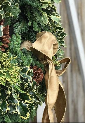 "Beautiful Raw silk 4"" wired Gold ribbon"