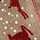 Thumbnail: Burlap linen ribbon w/red glitter Reindeer 2yds