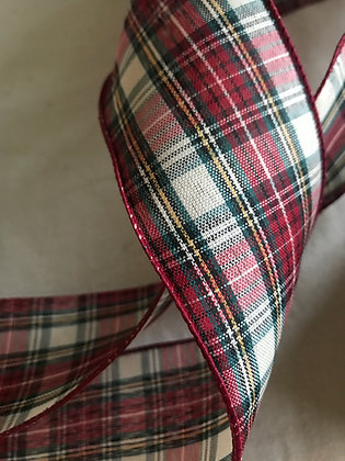 Traditional plaid wired ribbon