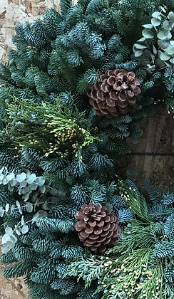 Traditional Wintersteen Wreath with Eucalyptus