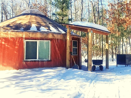ENJOY WINTER IN  YURTS & CAMPER CABINS