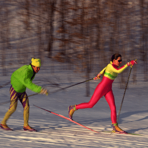 Skate skiing in Cuyuna Lakes Area