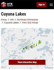 Interactive Cuyuna Lakes Trail Map from MTB project