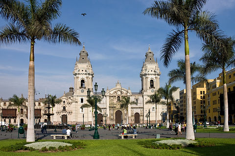 lima-cathedral-in-the-plaza-de-armes-in-