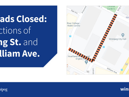 Portions of King Street and William Avenue to temporarily close