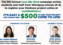 Winnipeg Police Association Kicks-Off the Cool 2BE Kind Campaign