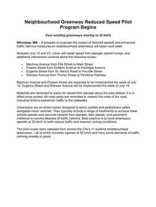 Neighbourhood Greenway Reduced Speed Pilot Program Begins.jpg