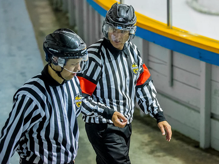Metis Hockey Referee Can't Get Enough of the Rink