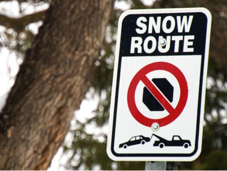 Extended Snow Route Parking Ban Starts at midnight