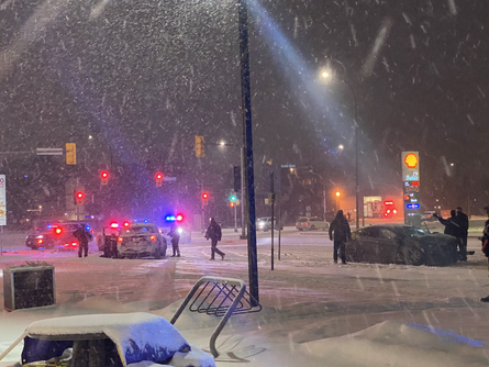 Police Cruiser Accident on Pembina
