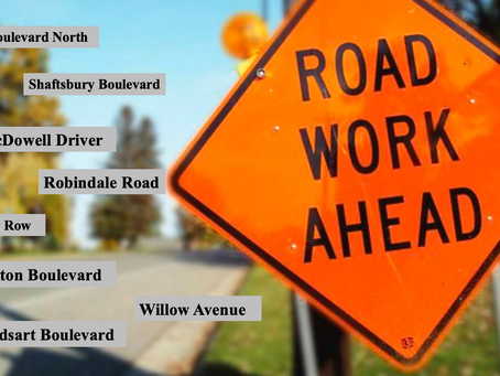 8 Area Streets to be Impacted by Public Works