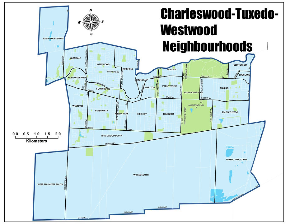 1) Charleswood-Tuxedo-Westwood Ward with