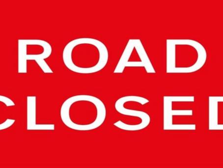 Several Road Closures This Week and Next
