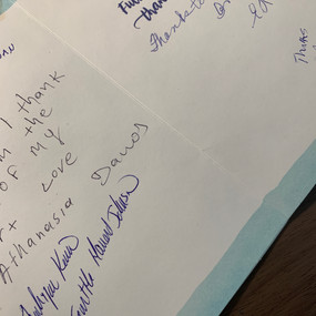 Thank Card from Residents in Westwood who had an issue