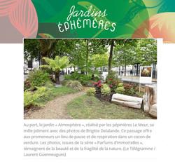 Manifestation Jardins Ephémères VANNES 2020