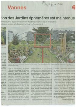 Manifestation Jardins Ephémères 2020