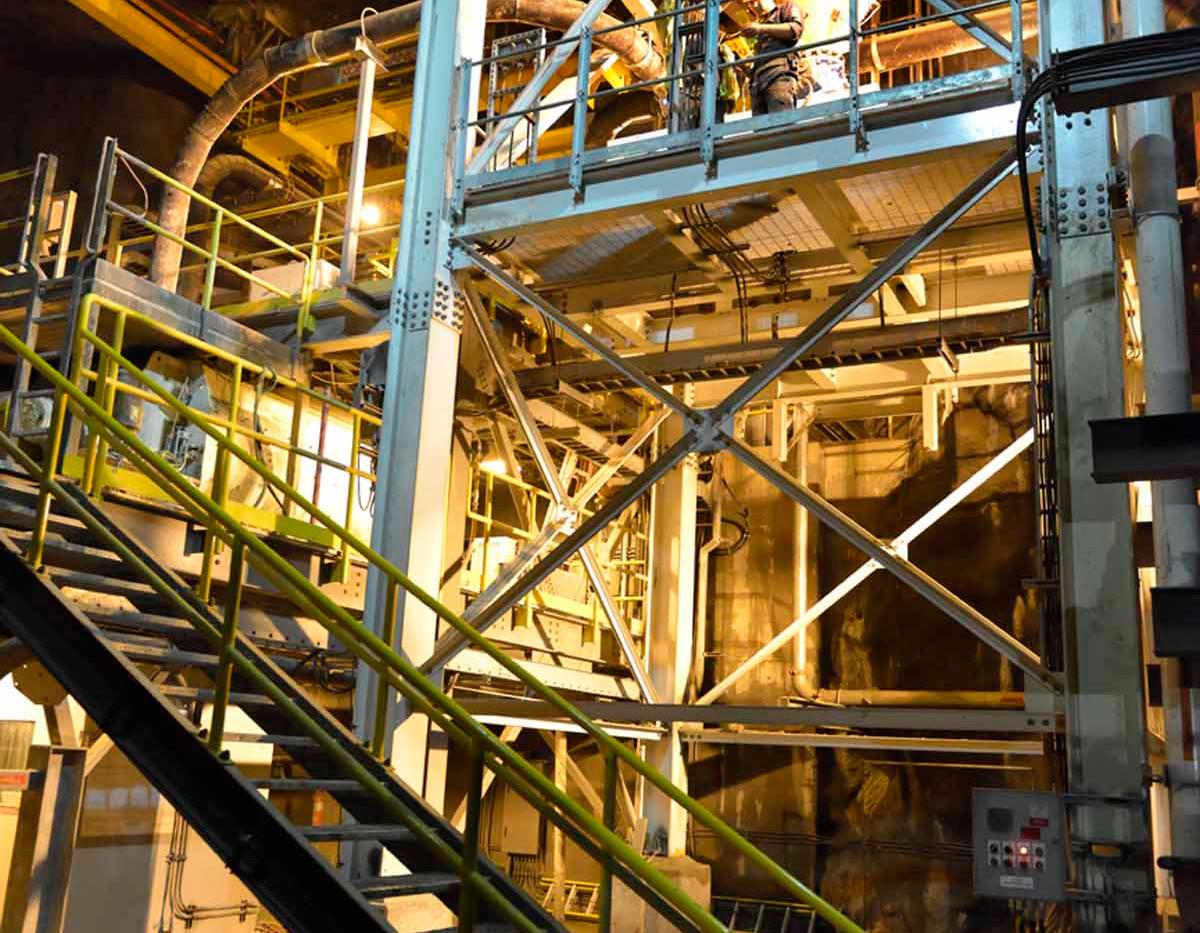 Cement Silo in Kensington Paste Plant