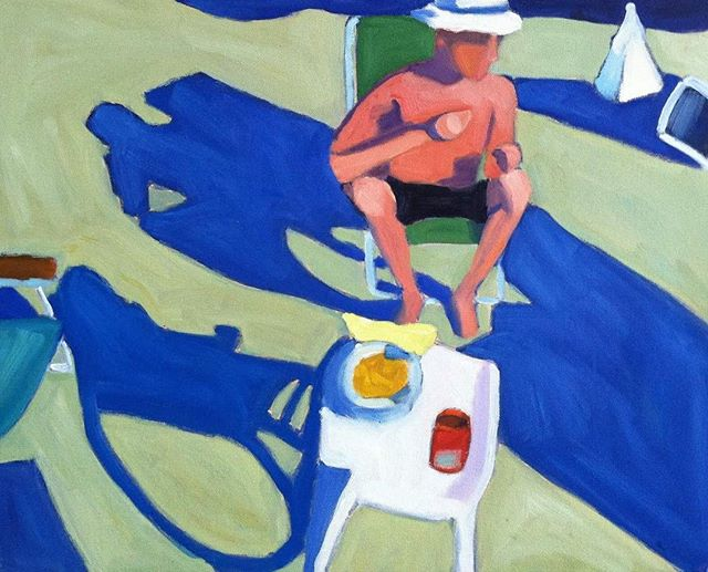 Man In Beach Chair