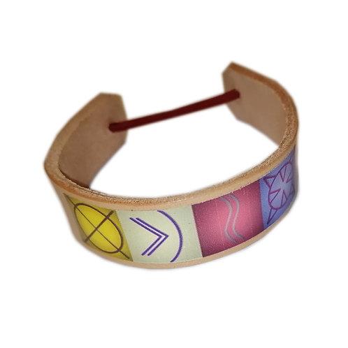 Symbol-LEDER-Armband