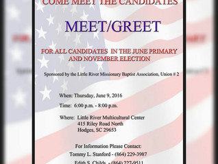 MEET & GREET THE CANDIDATES