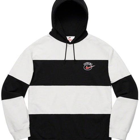 Supreme x Nike Stripe Hoodie (Black, L)