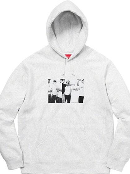 Classic Ad Hooded Sweatshirt (Grey, M)