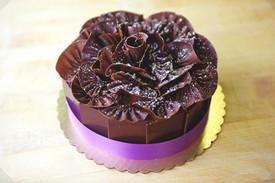 Dark Chocolate Ruffle Cake