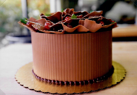 Milk Chocolate Ruffle Cake