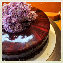 Chocolate Torte with Lilac