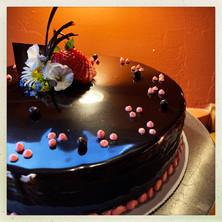 Dark Chocolate Raspberry Torte