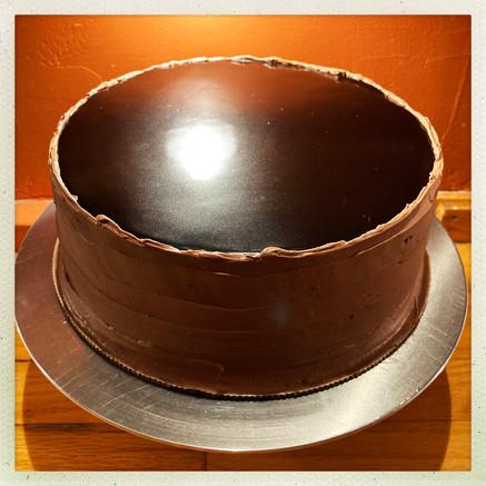 Chocolate Wedding Cutting Cake