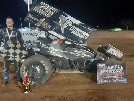 Arenz mounts inspiring charge to net MSA Gravity Park Speedway triumph
