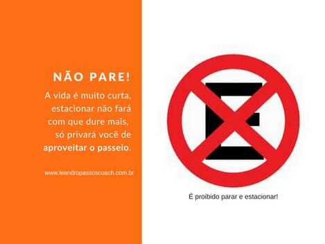 Proibido parar e estacionar