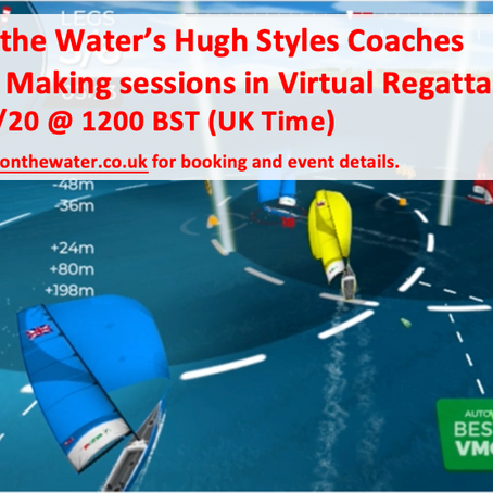 Hugh Styles Coaches Sailing Decision Making week days 1200 BST