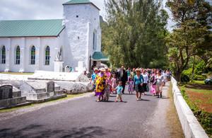 Exotischer Kirchenbesuch auf den Cook Inseln