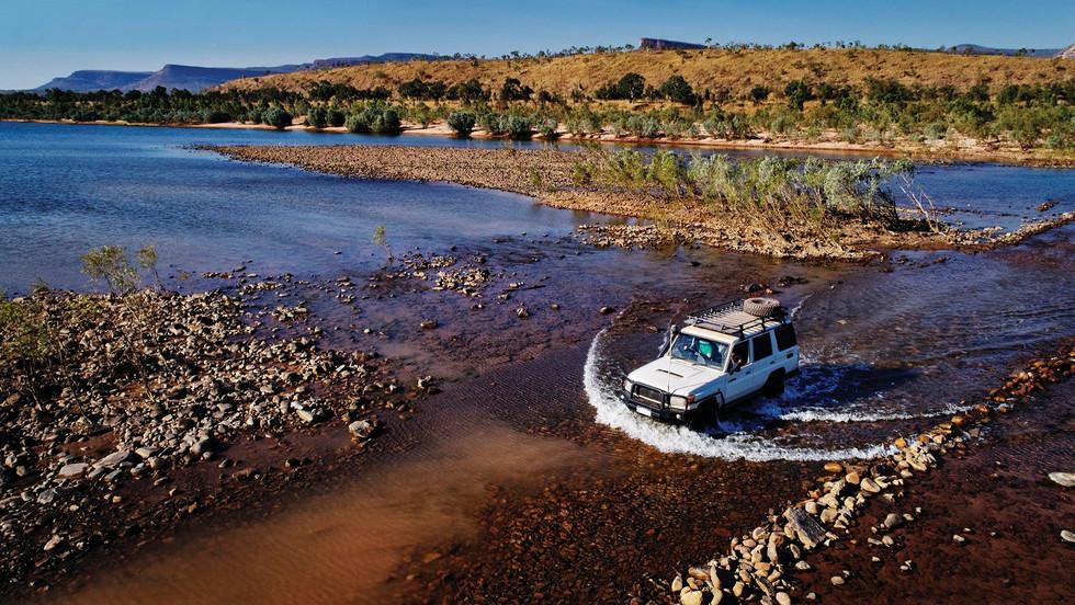 Abenteuer pur! Flussüberquerung auf der Gibb River Road