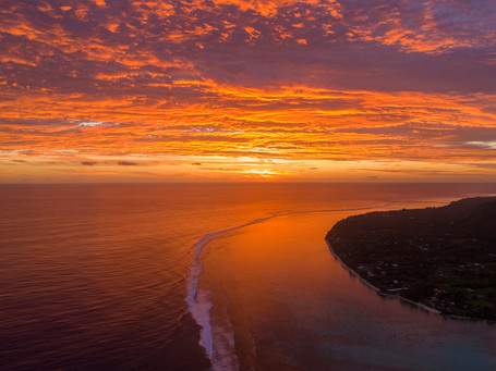 Sonnenuntergang auf Rarotonga
