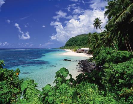 Einer von vielen Traumstränden auf Samoa