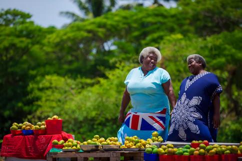 Fijianische Marktfrauen