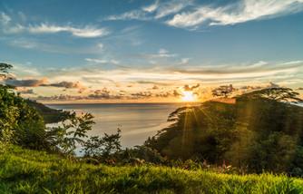 Raiatea Sonnenuntergang