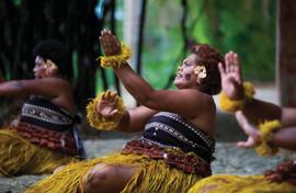 Fijianischer Meke-Tanz
