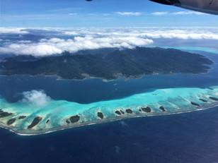 Insel Taha'a Luftansicht